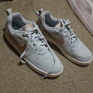 Nike Women's Sneakers in Rose Gold & Gray